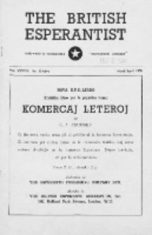 The British Esperantist : the official organ of the British Esperanto Association. Vol. 37, no 539/540 (March/April 1950)