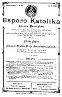 Espero Katolika.Nova Kolekto, No 40 (1928)