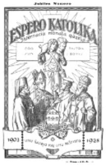 Espero Katolika.Nova Kolekto, Jubilea Numero (1928)