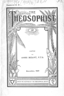 Theosophist. Vol. 51, nr 2 (1929/1930)