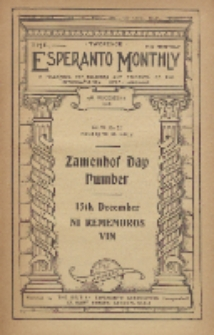 The Esperanto Monthly : a magazine for teachers and students of the international help-language / British Esperanto Association.Vol. 6, No 72 (december1918)