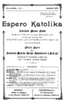 Espero Katolika.Nova Kolekto, No 1 (1924)