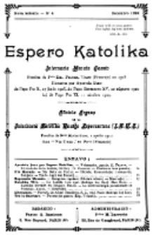 Espero Katolika.Nova Kolekto, No 4 (1924)