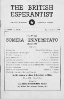 The British Esperantist : the official organ of the British Esperanto Association. Vol. 37, no 533/534 (September/October 1949)