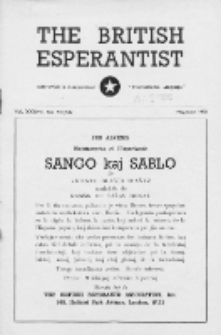 The British Esperantist : the official organ of the British Esperanto Association. Vol. 37, no 541/542 (May/June 1950)