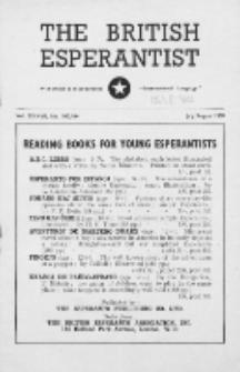 The British Esperantist : the official organ of the British Esperanto Association. Vol. 37, no 543/544 (July/August 1950)