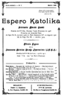 Espero Katolika.Nova Kolekto, No 7 (1925)