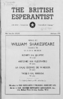 The British Esperantist : the official organ of the British Esperanto Association. Vol. 48, no 567/568 (July/August 1952)