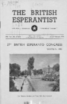 The British Esperantist : the official organ of the British Esperanto Association. Vol. 49, no 573/574 (January/February 1953)