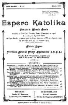 Espero Katolika.Nova Kolekto, No 17 (1926)