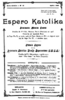 Espero Katolika.Nova Kolekto, No 18 (1926)