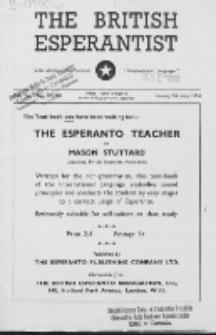 The British Esperantist : the official organ of the British Esperanto Association. Vol. 50, no 585/586 (January/February 1954)