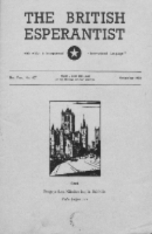 The British Esperantist : the official organ of the British Esperanto Association. Vol. 51, no 607 (November 1955)