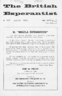 The British Esperantist : the official organ of the British Esperanto Association. Vol. 59, no 686 (January 1963)