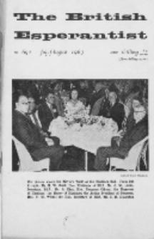 The British Esperantist : the official organ of the British Esperanto Association. Vol. 59, no 692 (July-August 1963)