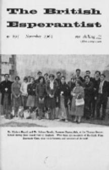 The British Esperantist : the official organ of the British Esperanto Association. Vol. 59, no 695 (November 1963)