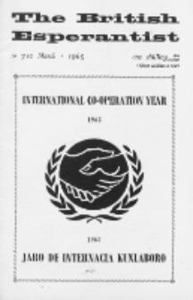 The British Esperantist : the official organ of the British Esperanto Association. Vol. 61, no 710 (March 1965)