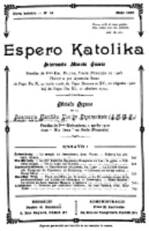 Espero Katolika.Nova Kolekto, No 19 (1926)
