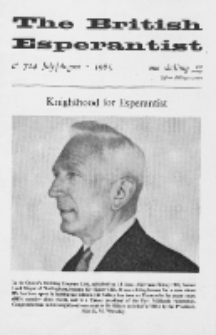 The British Esperantist : the official organ of the British Esperanto Association. Vol. 61, no 714 (July-August 1965)