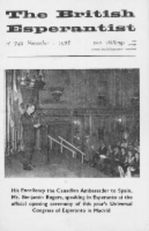 The British Esperantist : the official organ of the British Esperanto Association. Vol. 64, no 749 (November 1968)