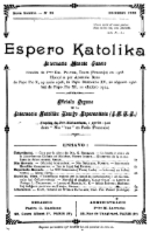 Espero Katolika.Nova Kolekto, No 25 (1926)