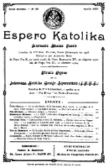 Espero Katolika.Nova Kolekto, No 29 (1927)