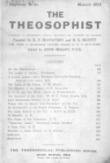 Theosophist. Vol. 43, nr 6 (1921/1922)