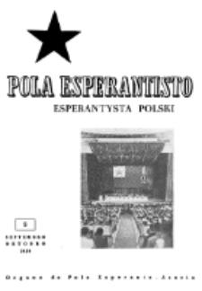 Pola Esperantisto : esperantaj sciigoj por pollingvanoj. Jaro 39, no 5 (Septembro-Oktobro 1959)