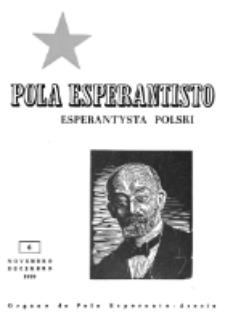 Pola Esperantisto : esperantaj sciigoj por pollingvanoj. Jaro 39, no 6 (Novembro-Decembro 1959)