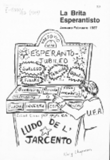 The British Esperantist : the official organ of the British Esperanto Association. Vol. 83, no 874 (January-February 1987)