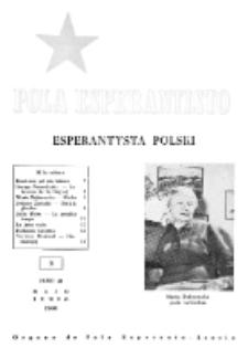 Pola Esperantisto : esperantaj sciigoj por pollingvanoj. Jaro 40, no 3 (Majo-Junio 1960)