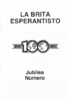 The British Esperantist : the official organ of the British Esperanto Association. Vol. 83, no 877 (Julio 1987)