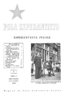 Pola Esperantisto : esperantaj sciigoj por pollingvanoj. Jaro 40, no 5 (Septembro-Oktobro 1960)