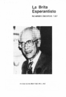 The British Esperantist : the official organ of the British Esperanto Association. Vol. 83, no 880 (Novembro-Decembro 1987)