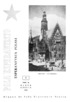Pola Esperantisto : esperantaj sciigoj por pollingvanoj. Jaro 41, no 2 (Marto-Aprilo 1961)