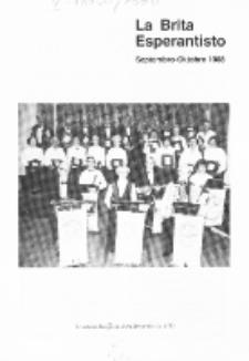 The British Esperantist : the official organ of the British Esperanto Association. Vol. 84, no 885 (Septembro-Oktobro 1988)