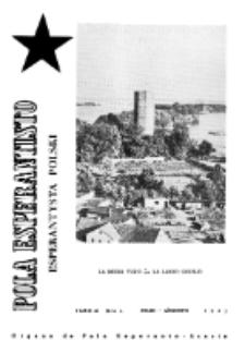 Pola Esperantisto : esperantaj sciigoj por pollingvanoj. Jaro 41, no 4 (Julio-Aŭgusto 1961)