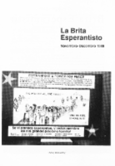 The British Esperantist : the official organ of the British Esperanto Association. Vol. 84, no 886 (Novembro-Decembro 1988)