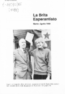 The British Esperantist : the official organ of the British Esperanto Association. Vol. 85, no 888 (Marto-Aprilo 1989)