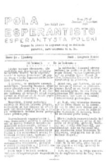 Pola Esperantisto : esperantaj sciigoj por pollingvanoj. Jaro 36, no 7-8 (Januaro-Februaro 1948)