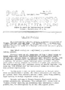 Pola Esperantisto : esperantaj sciigoj por pollingvanoj. R. 37, no 1-7 (Januaro-Julio 1949)