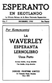 Esperanto en Skotlando : la oficiala bulteno de la Skota Federacio Esperantista.Nr 7 (1948)