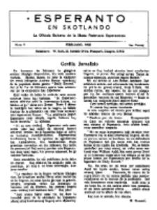 Esperanto en Skotlando : la oficiala bulteno de la Skota Federacio Esperantista.Nr 9 (1950)