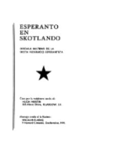 Esperanto en Skotlando : la oficiala bulteno de la Skota Federacio Esperantista.No 38 (1959)