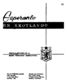 Esperanto en Skotlando : la oficiala bulteno de la Skota Federacio Esperantista.Nr 55 (1964)