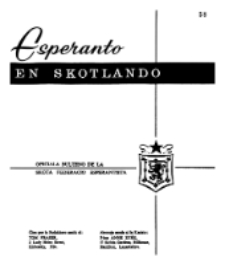 Esperanto en Skotlando : la oficiala bulteno de la Skota Federacio Esperantista.Nr 58 (1965/1966)