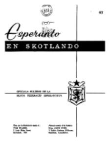Esperanto en Skotlando : la oficiala bulteno de la Skota Federacio Esperantista.Nr 63 (1966)