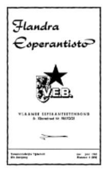 Flandra Esperantisto : tijdschrift voor esperanto-onderwijs en -propaganda / Flandra Esperanto Instituto.Jaargang 27, nummer 3=292 (1960)
