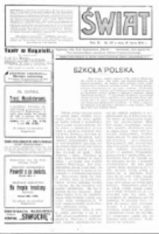 Świat : pismo tygodniowe ilustrowane poświęcone życiu społecznemu, literaturze i sztuce. R. 9 (1914), nr 29 (18 lipca)