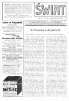 Świat : pismo tygodniowe ilustrowane poświęcone życiu społecznemu, literaturze i sztuce. R. 9 (1914), nr 31 (1 sierpnia)